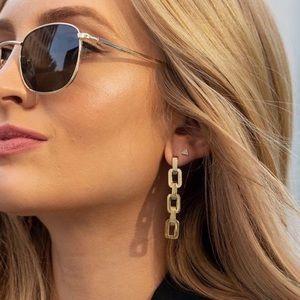 NWT Eddie Borgo Supra Link Gold Vermeil Earrings